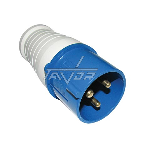 BLUE COLOR PLUG SINGLE PHASE 32A WITH 3 PINS MODEL 2P+E - 1 GENERATION SERIES