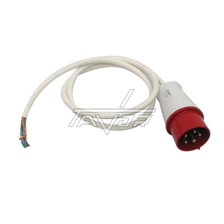KIT OF WHITE CABLE 1.2 MT WIRE 5X2.5MM2, WITH PLUG