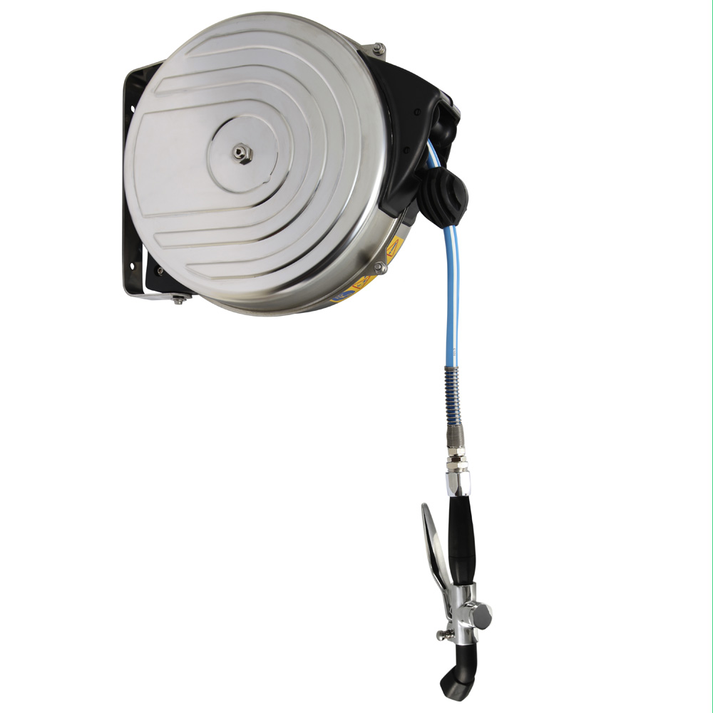 Wall Mounted Hose Reel - 15Mt With A Sprinkler Handle