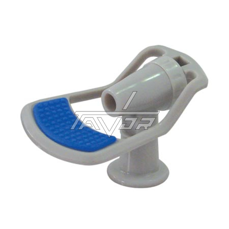 Faucet For Cold Water Gray Body With Blue Handle Female Thread 3/8