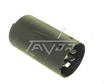 CAPACITOR  50MF + 6MF - 370/400VAC WITH 3 ELECTRIC TERMINALS IN A TRIANGLE SHAPE FOR AIR CONDITIONER