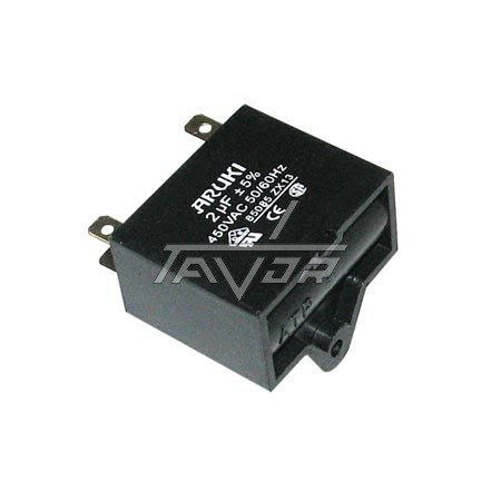 Capacitor 2.0 Mf Black And Small Type For Air Conditioner