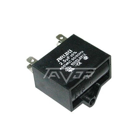 Capacitor 2.5 Mf Black And Small Type For Air Conditioner
