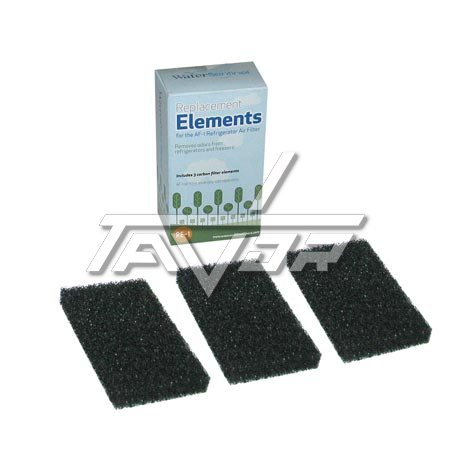 CARBON SPONGE 3 UNITS KIT FOR ABSORBING BAD SMELL INISDE REFRIGIRATORS