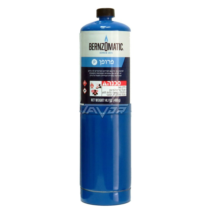 PROPANE GAS 14.1 oz - BLUE CYLINDER 400 GRAMS -  FOR HAND TORCH