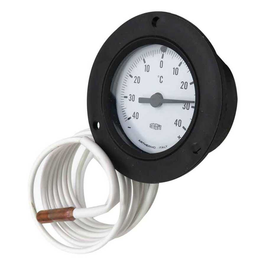 Circle Black Thermometer -40/+40