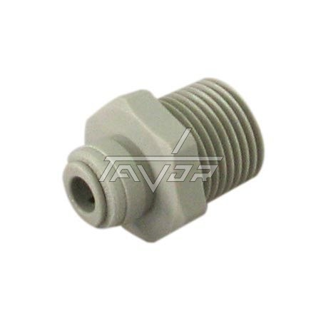 Male Connector Tube 1/4 Thread 1/2
