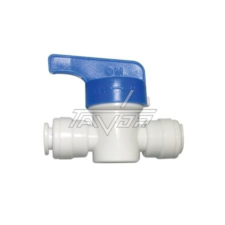 Valve With Blue Handle For Water Supply 1/4