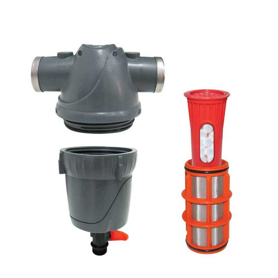 FILTER HOUSING AND FILTER FOR PREVENTING LIMESCALE AND MINERALS- COMBINED