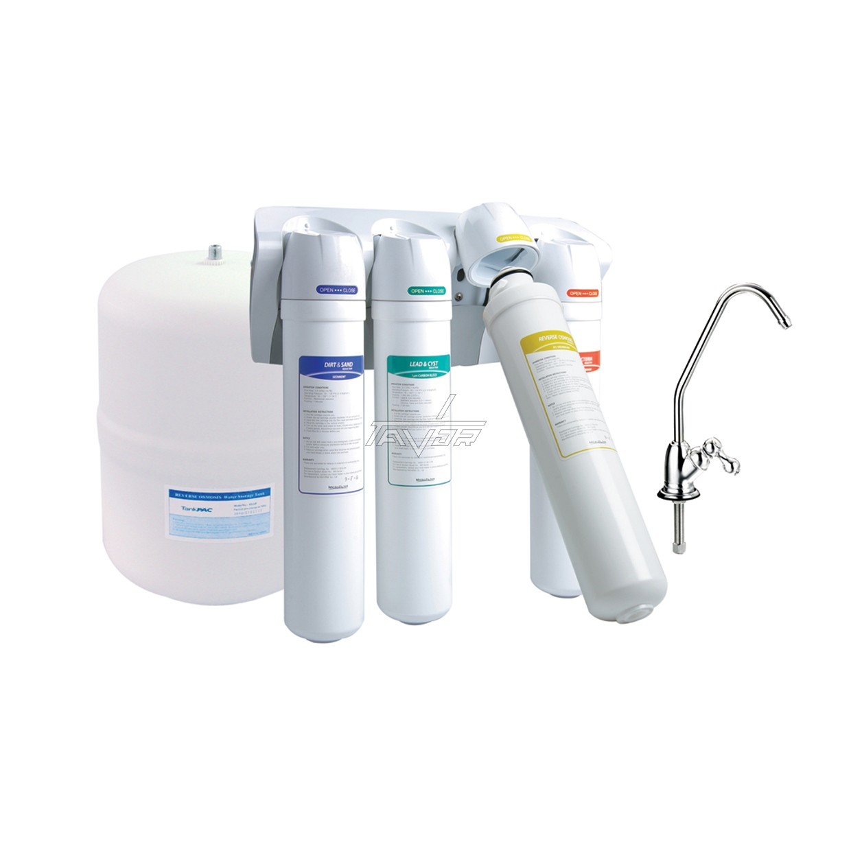 OSMOSIS WATER SYSTEM M9 -  50 GPD  WITH 4 WATER FILTERS