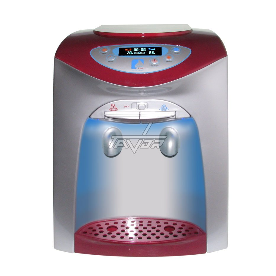 Desktop Water Dispenser Digital Type Lc-20T02Np Silver Color Body With Red Front Color