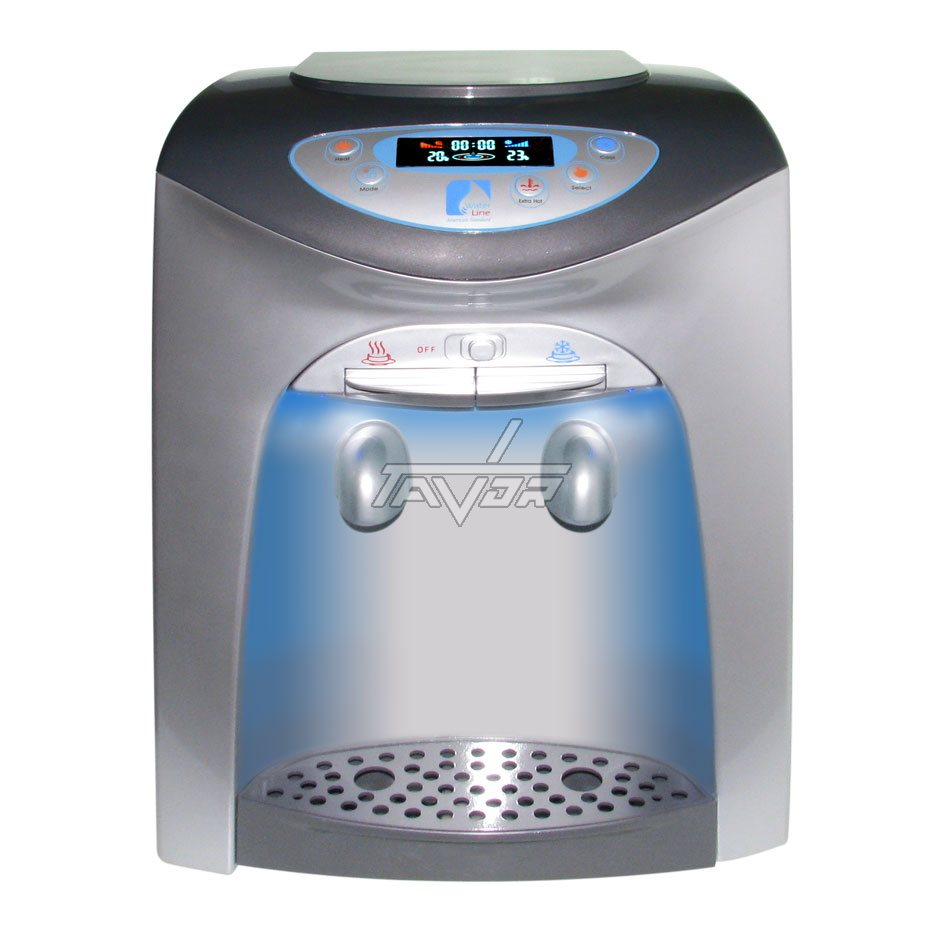 Desktop Water Dispenser Digital Type Lc-20T02Np Silver Color Body With Gray Front Color