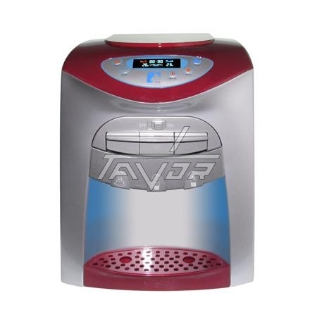DESKTOP WATER DISPENSER DIGITAL WITH 3 TAPS MODEL LC20-T03NP WITH SILVER BODY AND RED FRONT PANEL