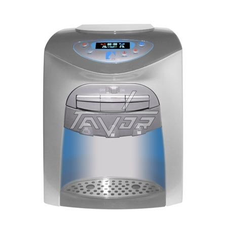 DESKTOP WATER DISPENSER DIGITAL WITH 3 TAPS MODEL LC20-T03NP WITH SILVER BODY AND SILVER FRONT PANEL