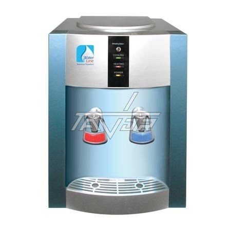 Desktop Water Dispenser Type 16T-G/E Siver Body And Blue Front Panel - Model Tiger