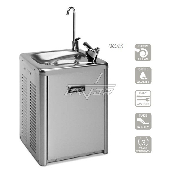 Water Dispenser-Wall Mounting Type- Water Cooler With 2 Faucets-Zerica Model Refresh P Zc Tc- P-80- 240 Hpdc- 260