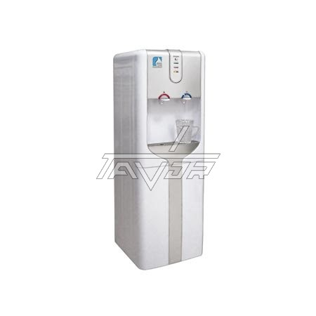 Water Dispenser Floor Standing Type-With White Body And Silver Front Panel And 2 Faucets For Hot And Cold Water- Model 161L-G