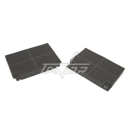 Pair Of Square Black Filters For Cooker Hood 19.3X13.8 Cm